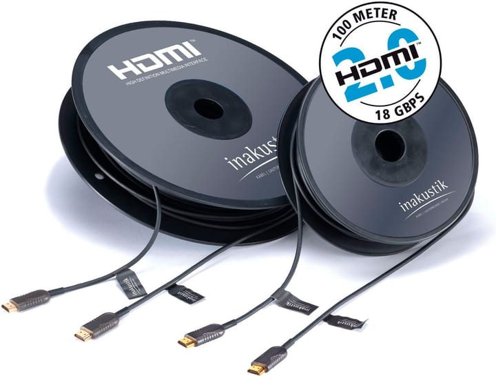 Excellence Profi HDMI 2.0 LWL Kabel (100m) Video Kabel inakustik 785300143701 Bild Nr. 1