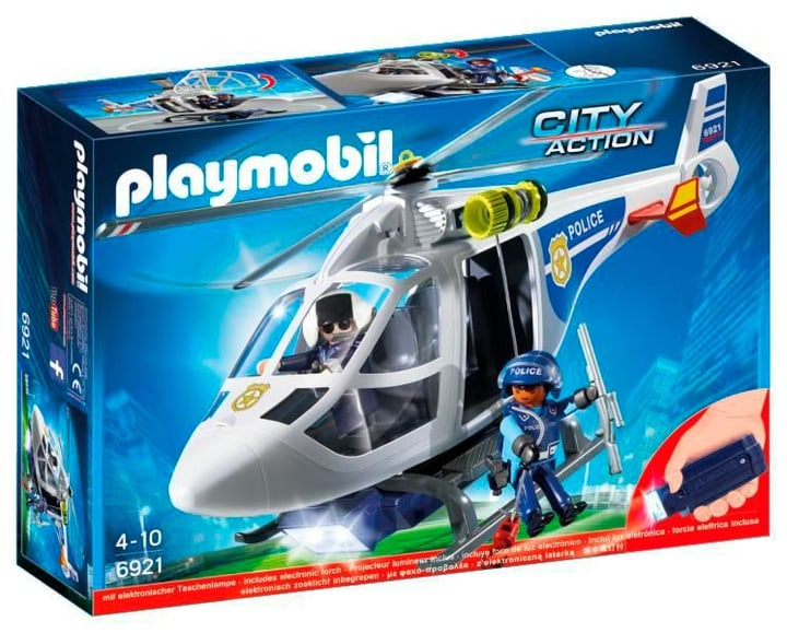PLAYMOBIL City Action Police-Helikopter mit LED-Suchscheinwerfer int. 6921 746060200000 Bild Nr. 1