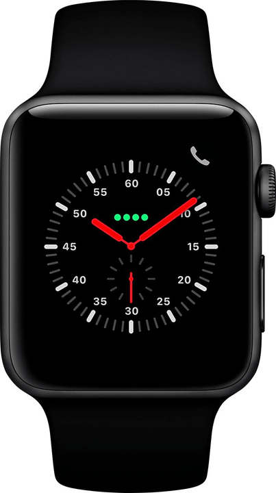 Watch Series 3 GPS + Cellular 42mm Space Grey Aluminium Case Black Sport Band Smartwatch Apple 785300139124 Photo no. 1