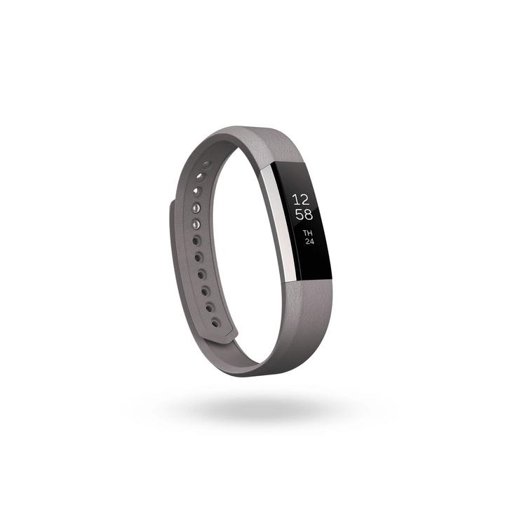 Alta bracciale di cuoio grigio S Fitbit 798118900000 N. figura 1