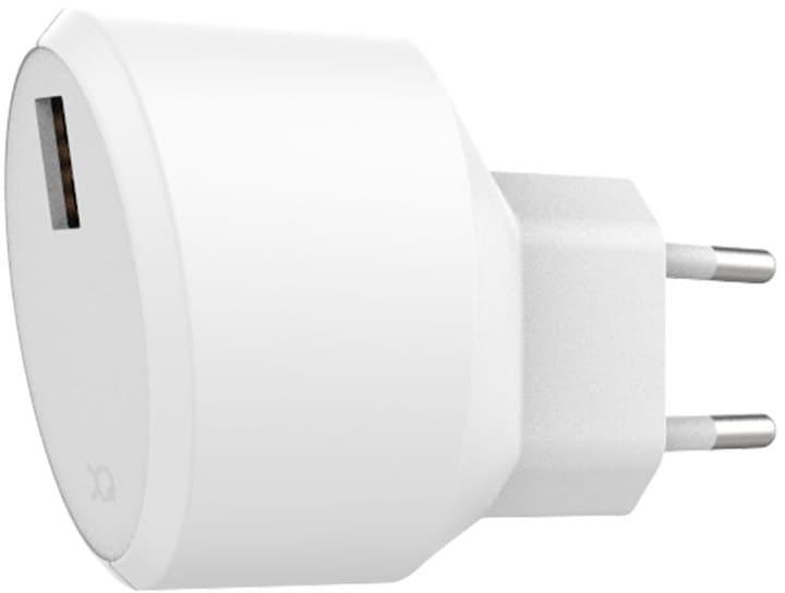 Travel Charger 2.4A Single USB EU bianco Caricabatterie XQISIT 798623600000 N. figura 1