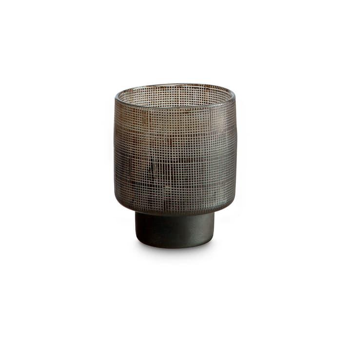 FLORA Teelichthalter 396085800000 Grösse B: 10.0 cm x T: 10.0 cm x H: 12.0 cm Farbe Grau Bild Nr. 1