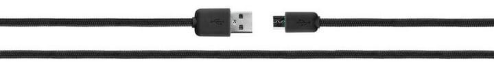 Cotton Cable microUSB 2.0 1,8m schwarz Kabel XQISIT 798055000000 Bild Nr. 1