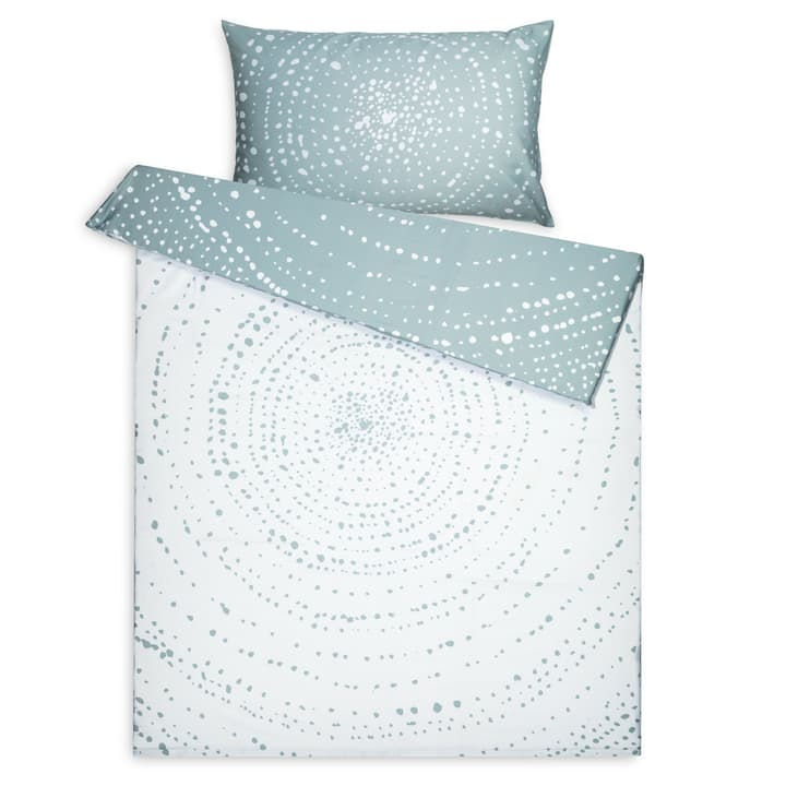 CIRCLES Housse de couette percale 376075012360 Dimensions L: 210.0 cm x L: 160.0 cm Couleur Vert Photo no. 1