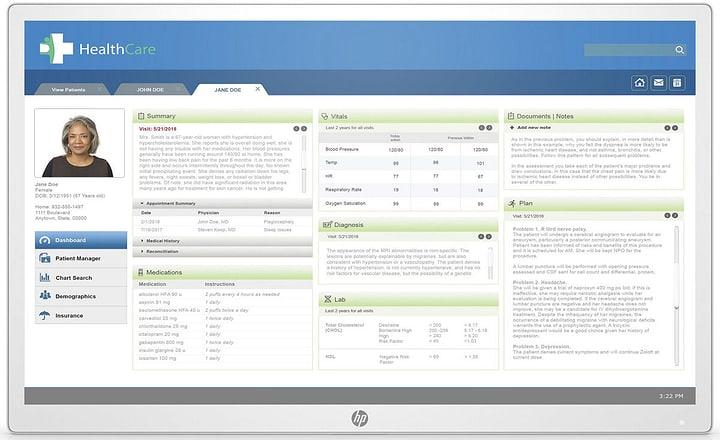 Healthcare Edition HC271p sans support Moniteur HP 785300152686 Photo no. 1