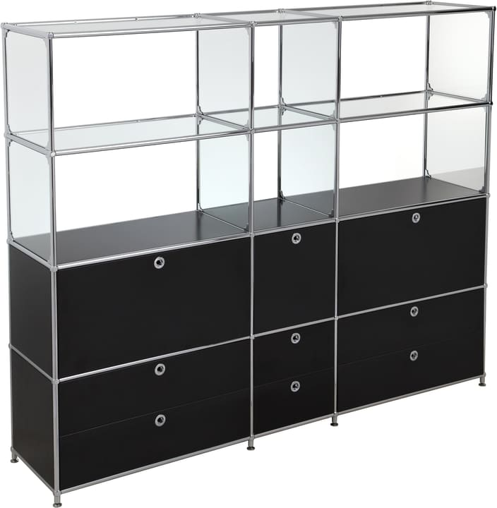 FLEXCUBE Etagère 401815320420 Dimensions L: 189.0 cm x P: 40.0 cm x H: 155.5 cm Couleur Noir Photo no. 1