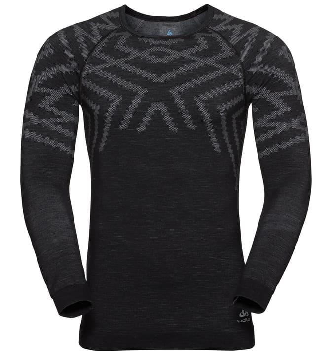 Natural + Kinship Warm Maglietta a maniche lunghe da uomo Odlo 477089400520 Colore nero Taglie L N. figura 1