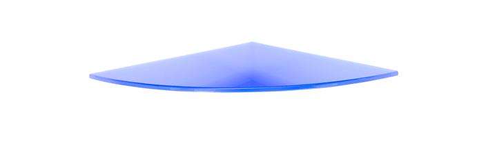 Ripiano vetro angolo arrotondato BOLISITALIA 606083600000 N. figura 1