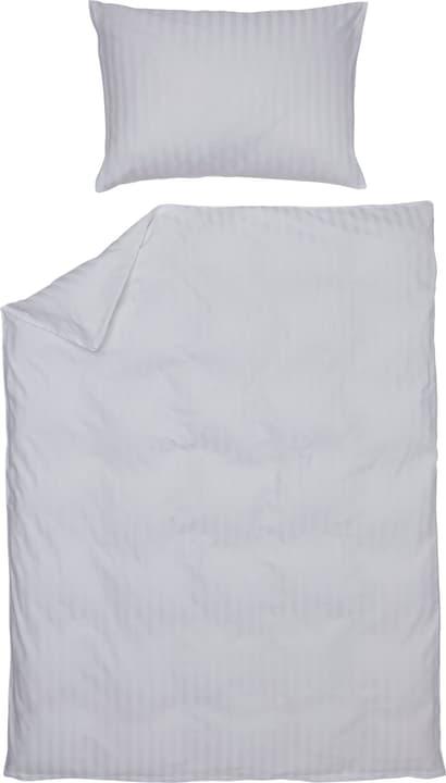 MANUEL Satin-Duvetbezug 451308312510 Farbe Weiss Grösse B: 200.0 cm x H: 210.0 cm Bild Nr. 1