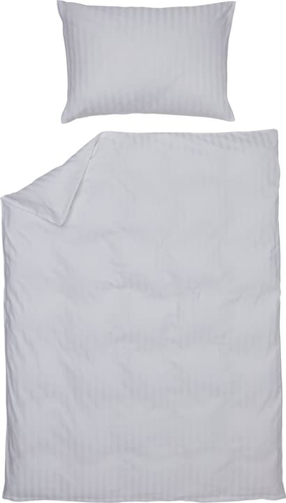 MANUEL Satin-Kissenbezug 451308310610 Farbe Weiss Grösse B: 65.0 cm x H: 65.0 cm Bild Nr. 1