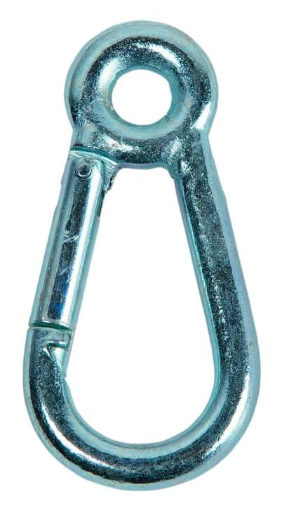 Karabinerhaken mit Ring verzinkt Meister 604708000000 Grösse 6 x 60 mm Bild Nr. 1