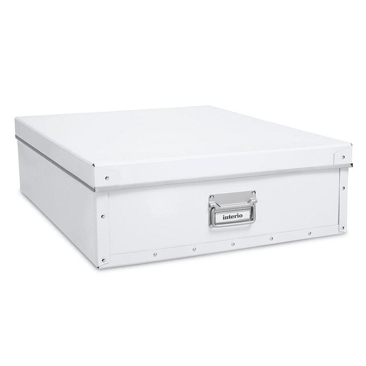 BIGSO Boîte de rangement sous le lit 386018415408 Dimensions L: 60.0 cm x P: 47.0 cm x H: 16.5 cm Couleur Blanc Photo no. 1
