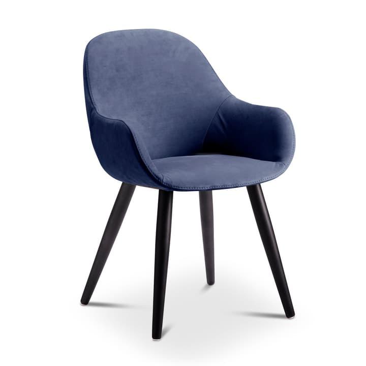 LAYLA Chaise Nubuck 366028624602 Dimensions L: 56.0 cm x P: 60.0 cm x H: 84.0 cm Couleur Bleu foncé Photo no. 1