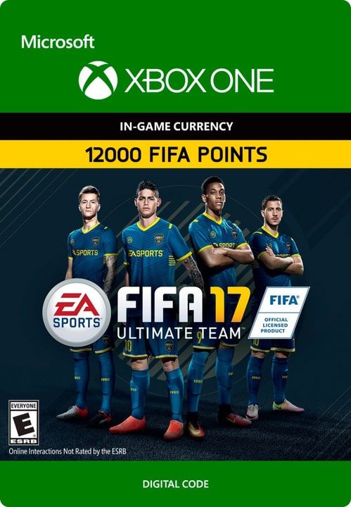 Xbox One - FIFA 17 Ultimate Team: FIFA Points 12000 Digital (ESD) 785300137377 N. figura 1