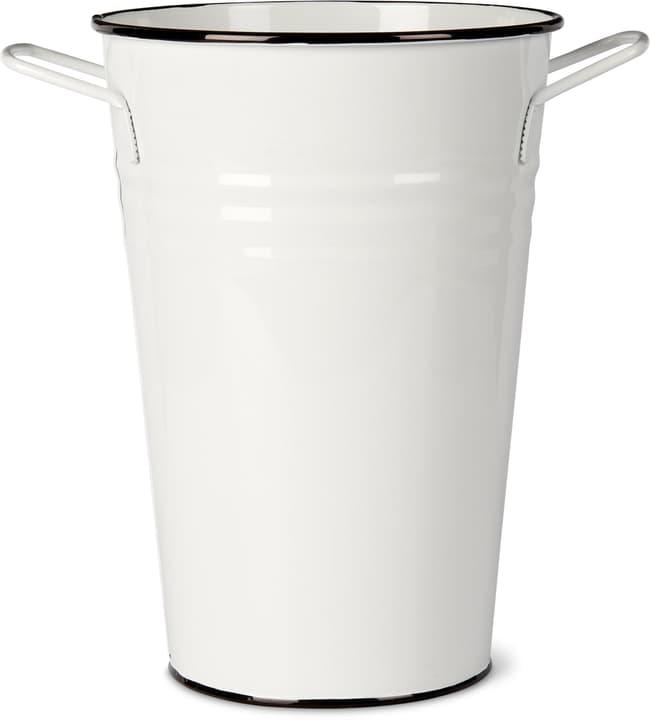 Contenitore con manico in metallo 631326500000 Taglio B: 21.0 cm x T: 15.0 cm x H: 30.0 cm Colore Bianco N. figura 1