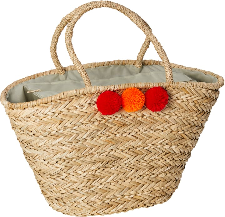SUMMER Tasche mit Pompon 444860000000 Farbe Rot Grösse B: 16.0 cm x T: 25.0 cm x H: 30.0 cm Bild Nr. 1