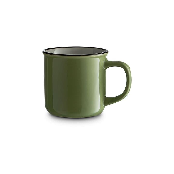 NOSTALGIE Tasse H8.5 cm vert/blanc 393170100000 Dimensions L: 9.0 cm x P: 12.5 cm x H: 8.5 cm Couleur Vert Photo no. 1