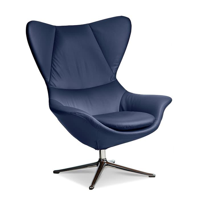 BAYA Fauteuil, pieds chrom 360054175007 Dimensions L: 90.0 cm x P: 90.0 cm x H: 112.0 cm Couleur Bleu foncé Photo no. 1