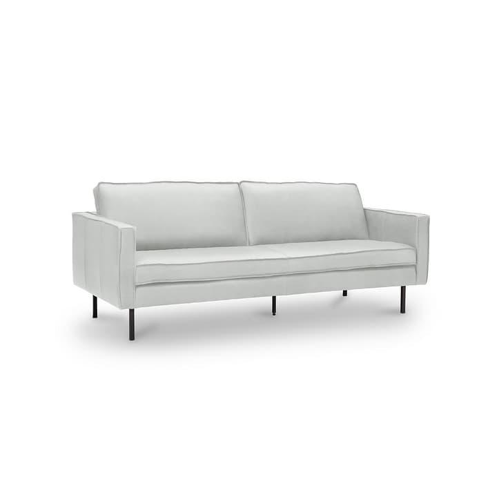 TEXADA canapé en cuir à 3 places 360020026509 Dimensions L: 196.0 cm x P: 95.0 cm x H: 61.0 cm Couleur Blanc Photo no. 1