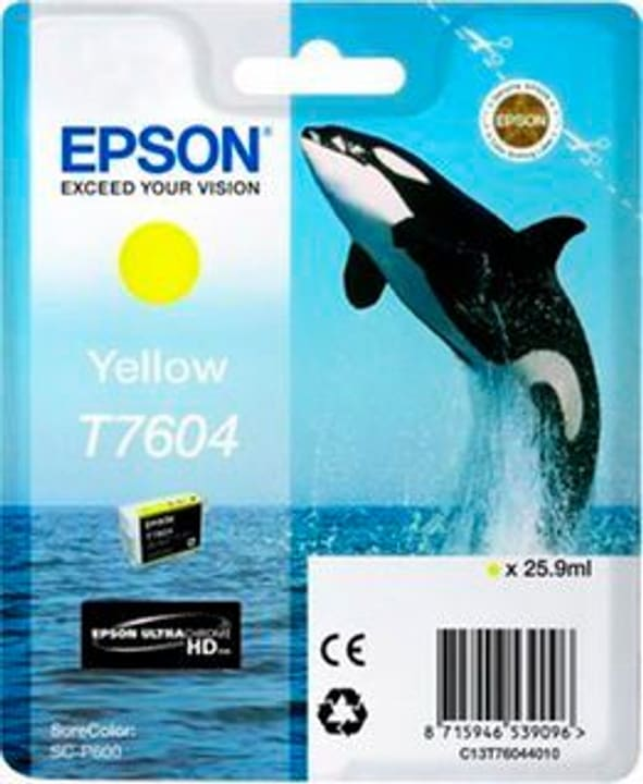T7604 jaune Cartouche d'encre Epson 798534900000 Photo no. 1