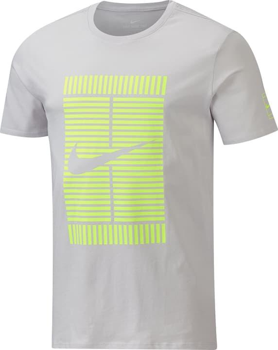 Court Tennis Shirt pour homme Nike 473221800381 Couleur gris claire Taille S Photo no. 1