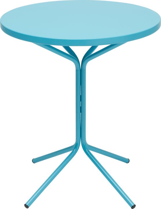 PIX Table ronde Schaffner 408010200044 Couleur Turquoise Dimensions H: 70.0 cm Photo no. 1