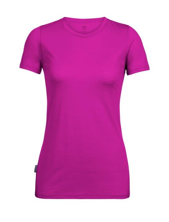 Spector Crewe T-shirt à manches courtes pour femme Icebreaker 477075300437 Couleur fuchsia Taille M Photo no. 1
