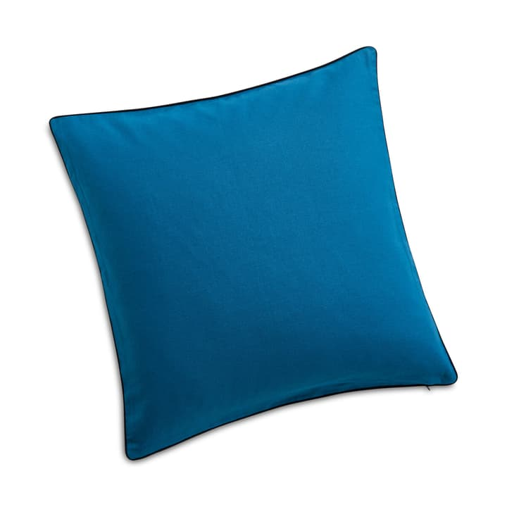 WUHAN Cuscino deco 378185500140 Dimensioni L: 45.0 cm x P: 45.0 cm Colore Blu N. figura 1