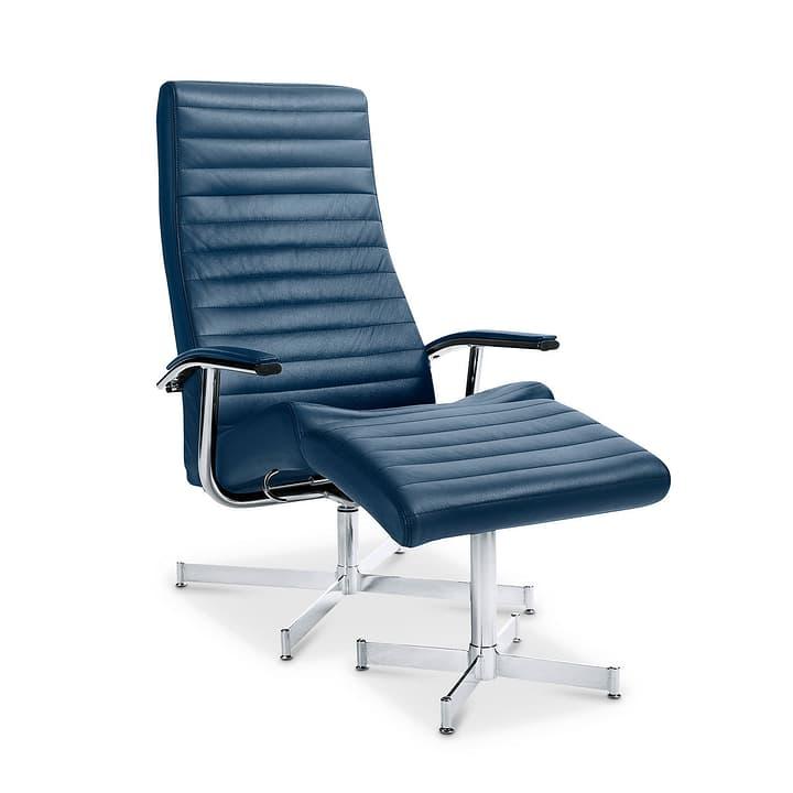 HARVEY Fauteuil et repose-pieds 360002227043 Dimensions L: 64.0 cm x P: 74.0 cm x H: 105.0 cm Couleur Bleu Photo no. 1