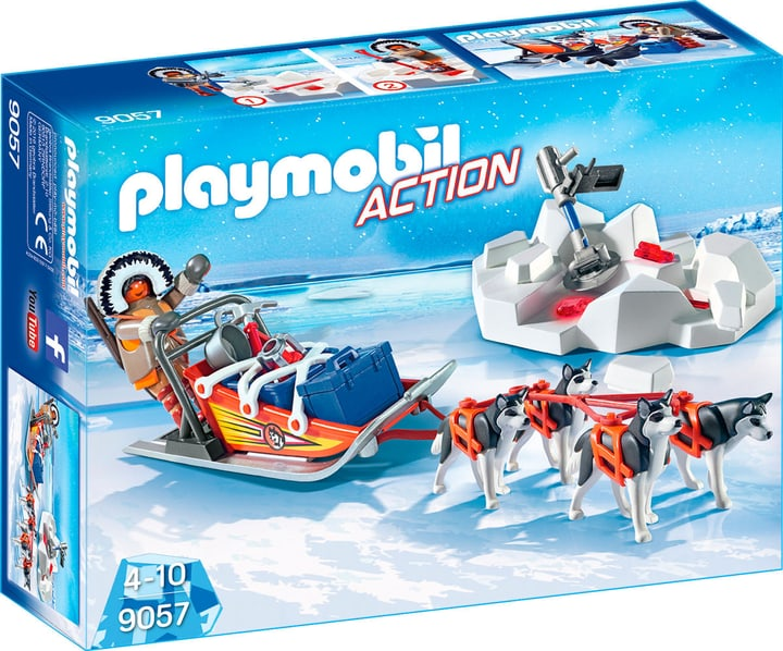 Playmobil Action Explorateur avec chiens de traineau 9057 746073500000 Photo no. 1