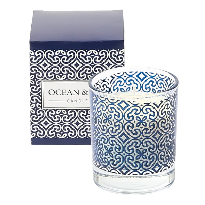 DELVIN Bougie parfumée 440722500000 Couleur Blanc / Bleu Dimensions H: 8.5 cm Photo no. 1