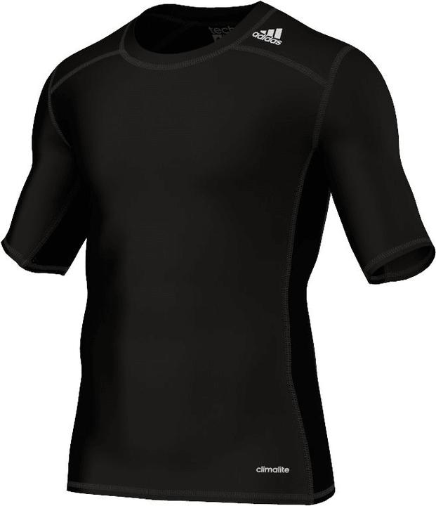 Techfit Base T-shirt de compression pour homme Adidas 498263900320 Couleur noir Taille S Photo no. 1
