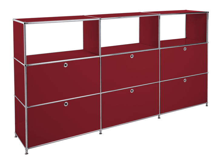 FLEXCUBE Buffet haut 401814930330 Dimensions L: 227.0 cm x P: 40.0 cm x H: 118.0 cm Couleur Rouge Photo no. 1