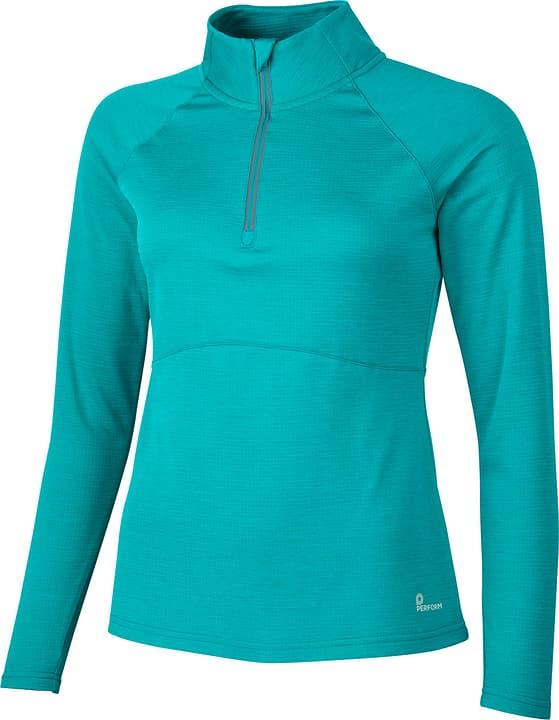 Damen-Pullover Perform 470174203415 Farbe smaragd Grösse 34 Bild-Nr. 1