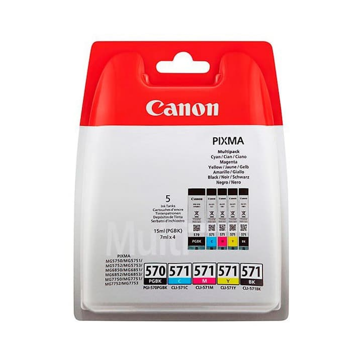 PGI-570, CLI-571  Ink Cartridge Multipack Canon 795845600000 N. figura 1