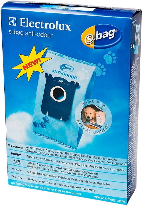 s-bag E203B ANTI-ODOUR sacs à poussière Electrolux 785300126922 Photo no. 1
