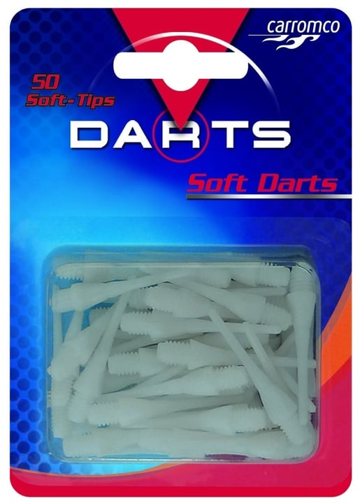 Soft-Tips 50 Stk. weiss Cible accessoires Carromco 472010600000 Photo no. 1
