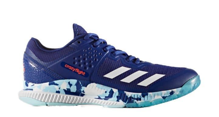 Crazyflight Chaussures d'intérieur pour femme Adidas 461711837040 Couleur bleu Taille 37 Photo no. 1