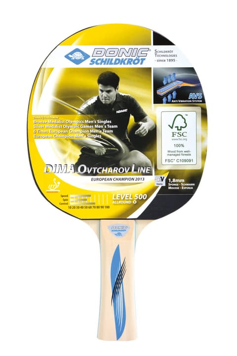 Donic Ovtcharov 500 FSC Tischtennis- Racket Schildkröt 491638800000 Photo no. 1