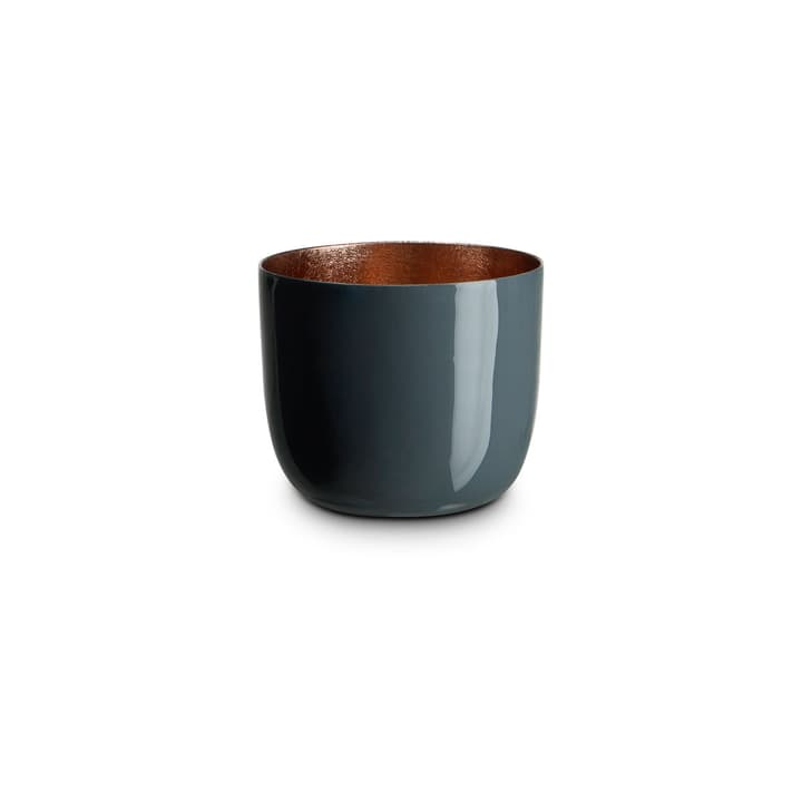 LEBIA Teelichthalter 396090200000 Grösse B: 7.0 cm x T: 7.0 cm x H: 6.0 cm Farbe Dunkelgrau Bild Nr. 1