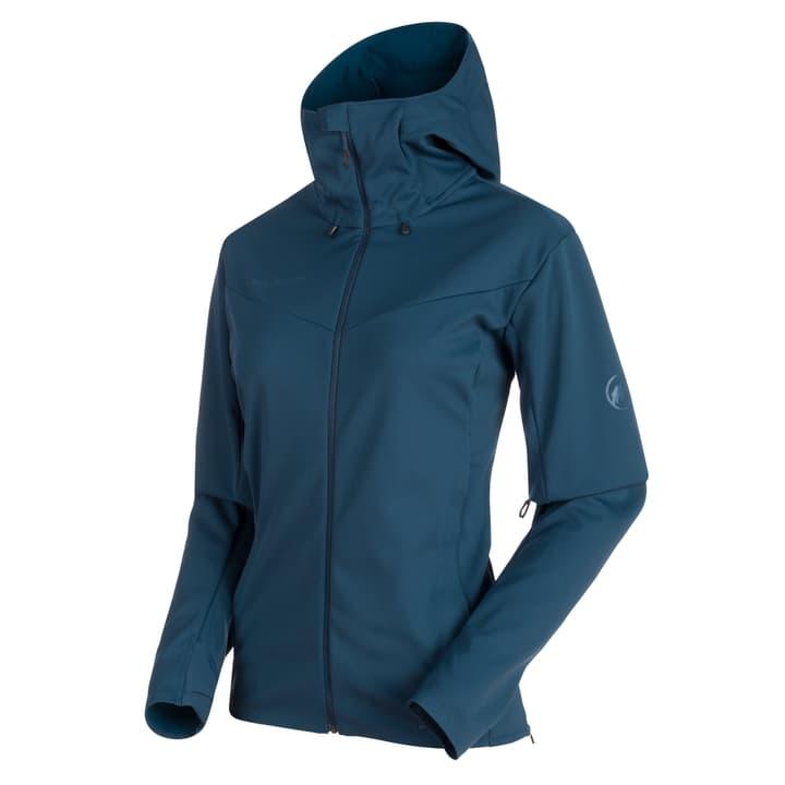 Ultimate Hood Veste softshell pour femme Mammut 462778100522 Couleur bleu foncé Taille L Photo no. 1