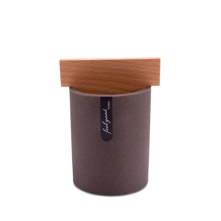 SABLE Boîte à coton 374025400000 Couleur Brun foncé Dimensions L: 7.6 cm x P: 7.6 cm x H: 11.7 cm Photo no. 1