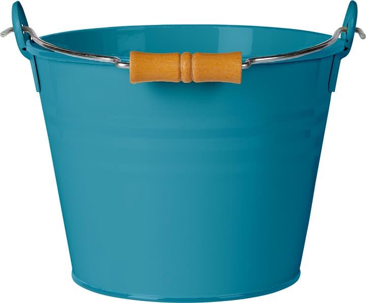 Secchio con manico in legno 631327400000 Colore Blu Taglio Litri 4.5 l x B: 22.0 cm x T: 16.0 cm x H: 17.0 cm N. figura 1