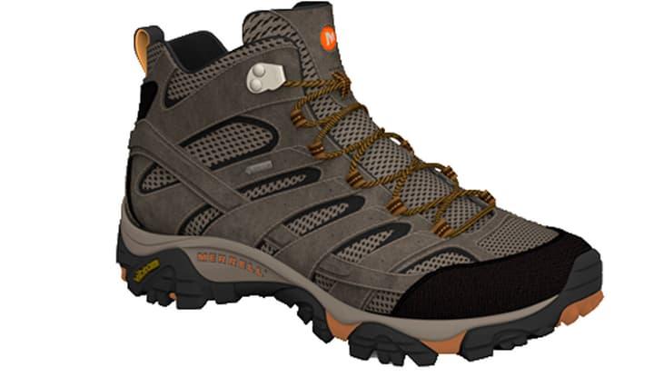 Moab Mid 2 GTX Chaussures de randonnée pour homme Merrell 460869341070 Couleur brun Taille 41 Photo no. 1