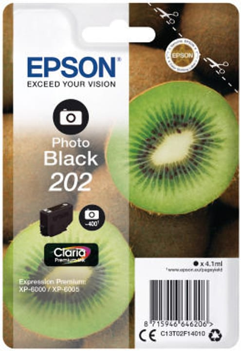 Epson Tintenpatrone 202 fotoschwarz Tintenpatrone Epson 798548900000 Bild Nr. 1