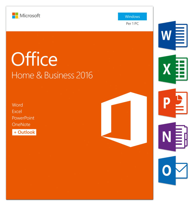 Microsoft PC - Office Home and Business 2016 Physique (Box)