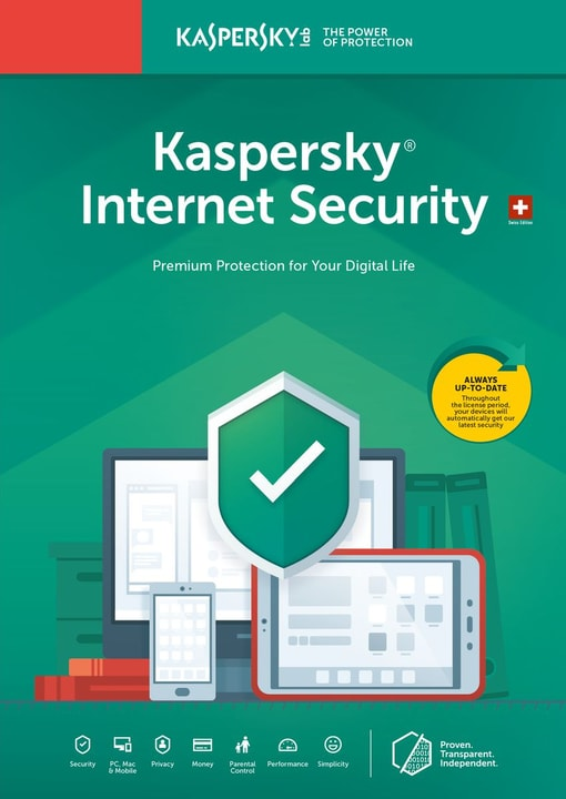 Internet Security (1 Device)  [PC/Mac/Android] D/F/I Physique (Box) Kaspersky 785300137684 Photo no. 1