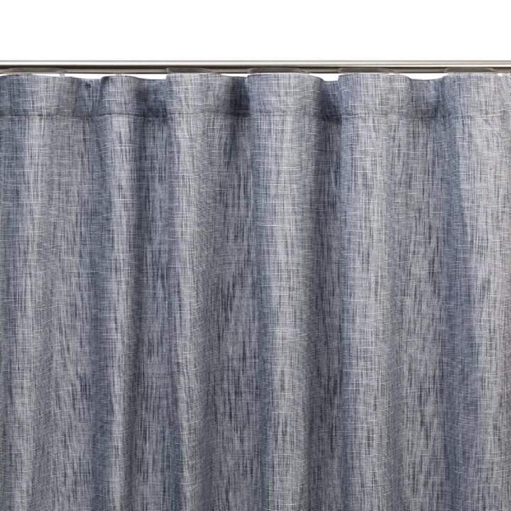 FELICIA Rideau opaque prêt à poser 372075900000 Dimensions L: 150.0 cm x H: 270.0 cm Couleur Bleu foncé Photo no. 1