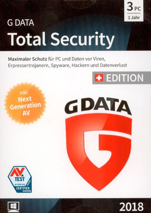 PC - GData Total Security 2018 Swiss Edition (3 PC) (D/F/I) 785300133167 N. figura 1