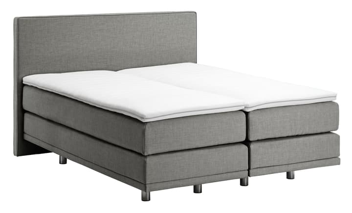 NAVIER Lit Boxspring 403486300000 Couleur Gris Dimensions L: 160.0 cm x P: 200.0 cm Photo no. 1